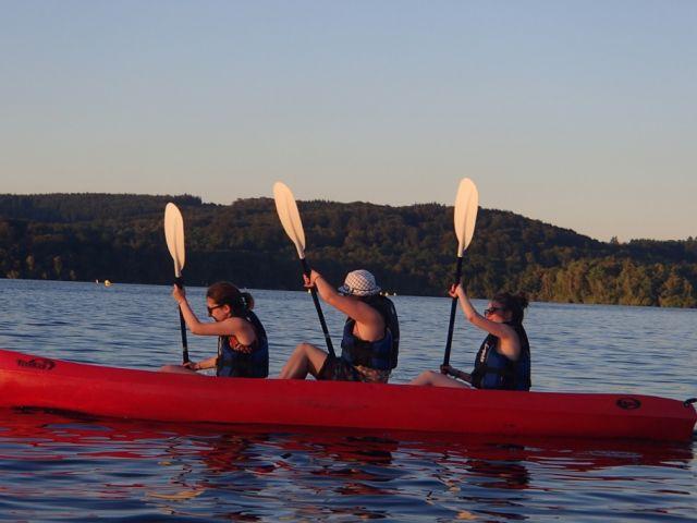 Trio canoe